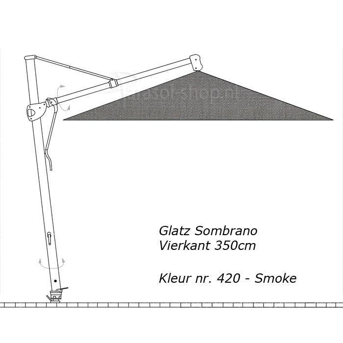 glatz sombrano s 350x350cm vierkant stofklasse 4. Black Bedroom Furniture Sets. Home Design Ideas