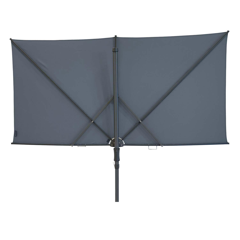 Vrijhangende zweefparasol Sunwave Square 250x125 (Safier blue)