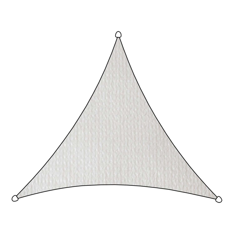 Schaduwdoek Iseo HDPE driehoek 3,6m (wit)