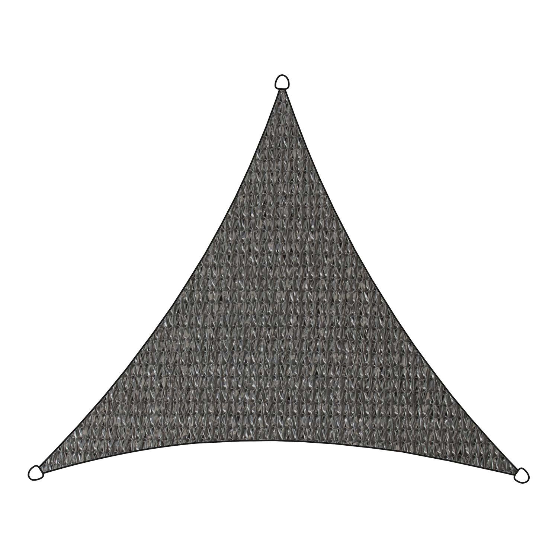 Schaduwdoek Iseo HDPE driehoek 5m (antraciet)