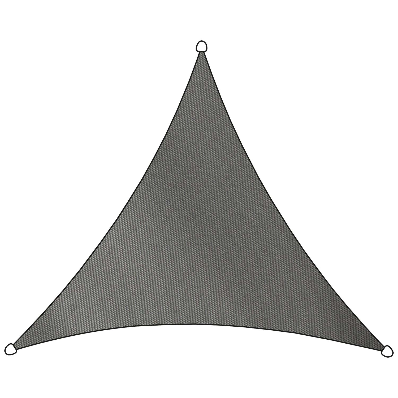 Schaduwdoek Como polyester driehoek 5m (antraciet)