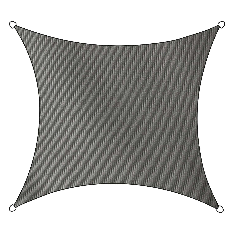 Schaduwdoek Como polyester vierkant 5m (antraciet)