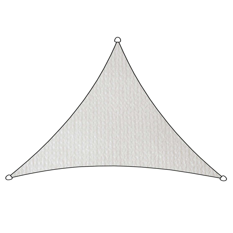 Schaduwdoek Iseo HDPE driehoek 3x2,5m (wit)