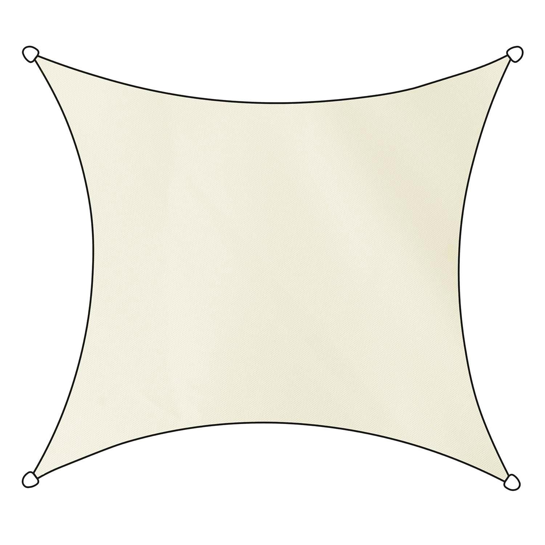 Schaduwdoek Como polyester vierkant 5m (off white)