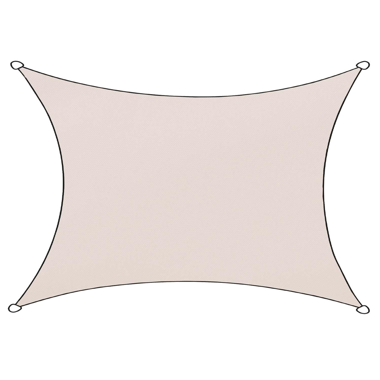 Schaduwdoek Livigno polyester rechthoek 3x4m (naturel)