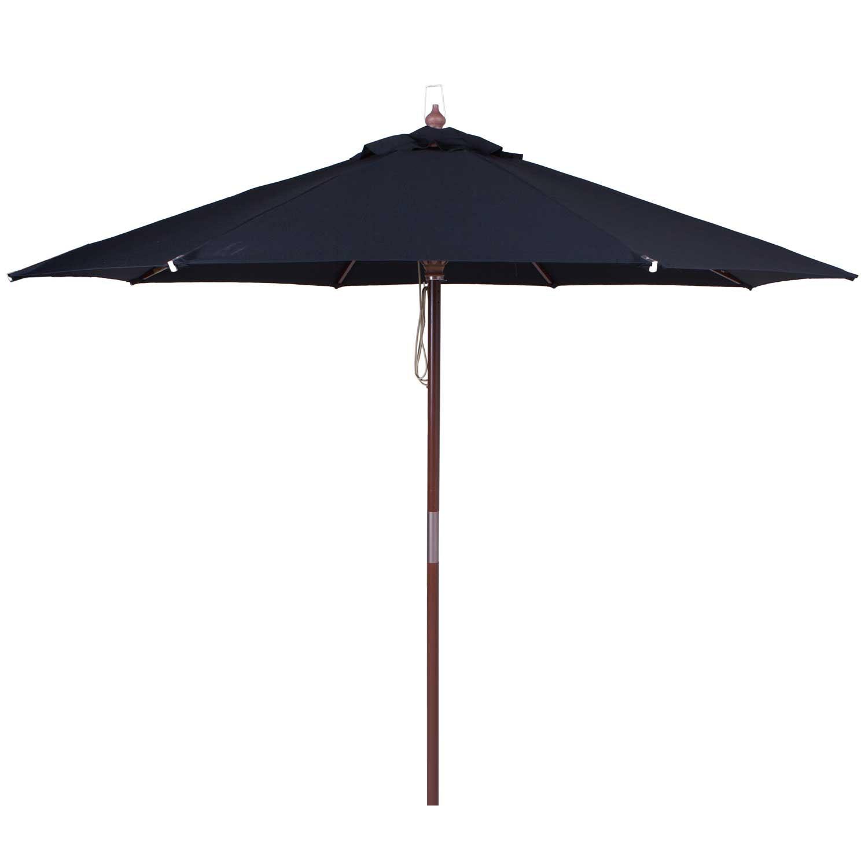 Parasol Ibiza 300cm (zwart)