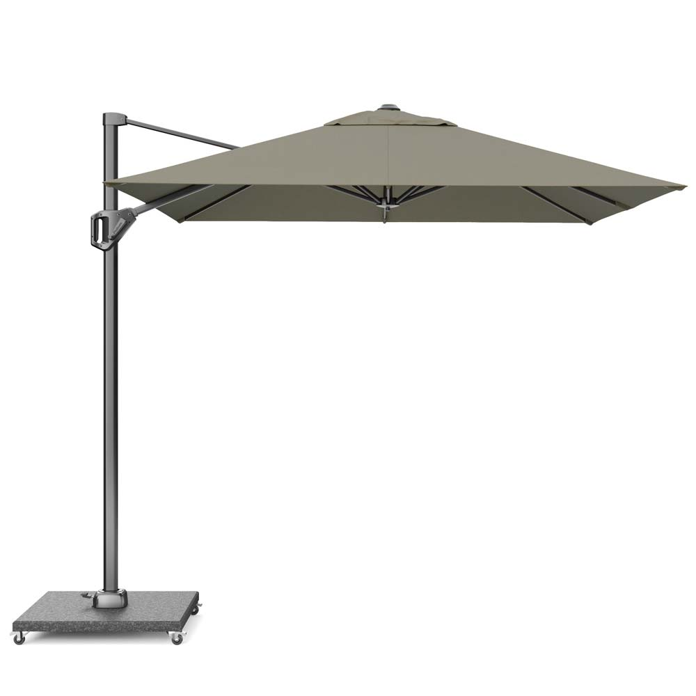 Zweefparasol Voyager T1 250x250 Taupe