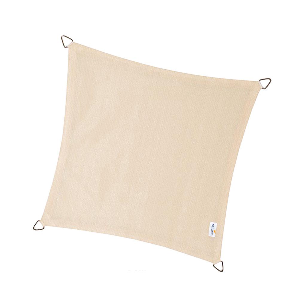 Schaduwdoek Coolfit vierkant 5m (gebroken wit)