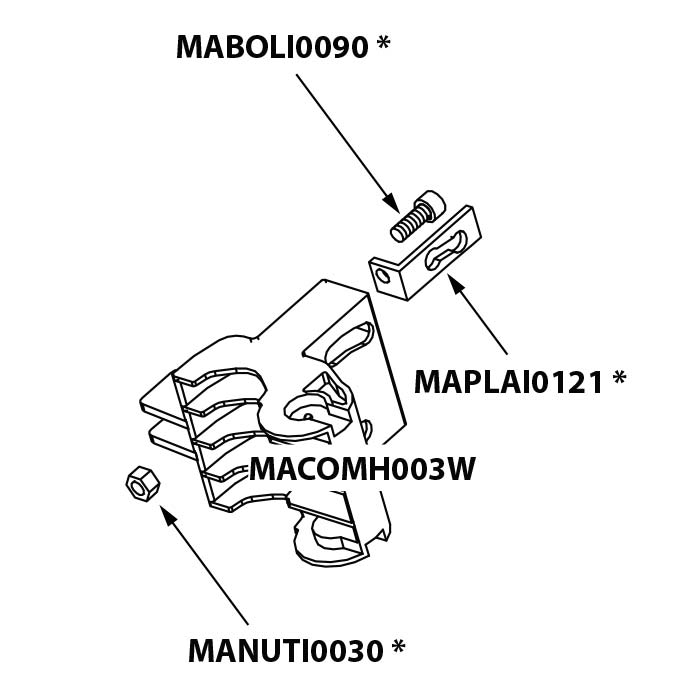 Onderdeel - Umbrosa Paraflex standaard bundel 6/29/36/37