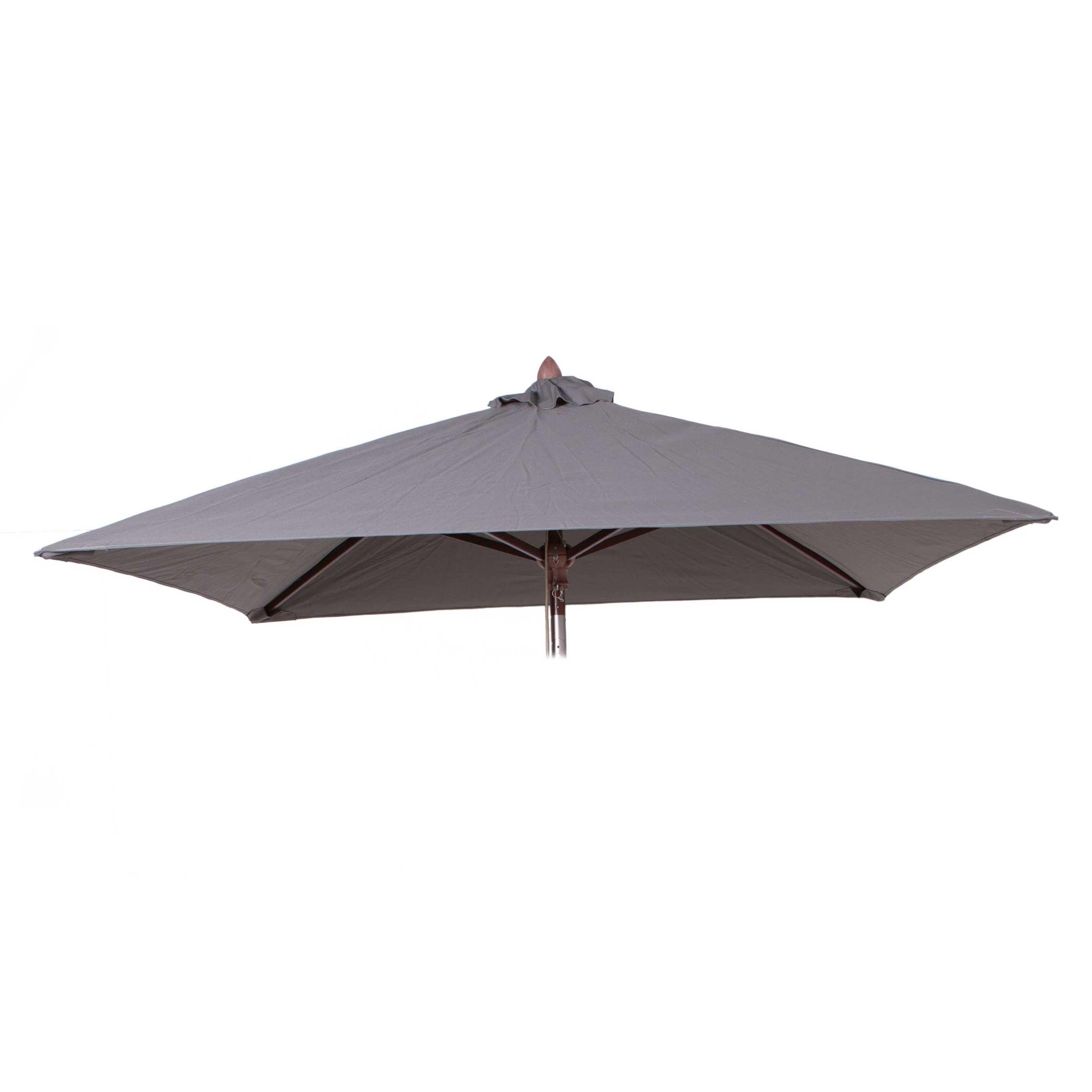 Parasoldoek Borek 200x200cm vierkant grijs (olefin)