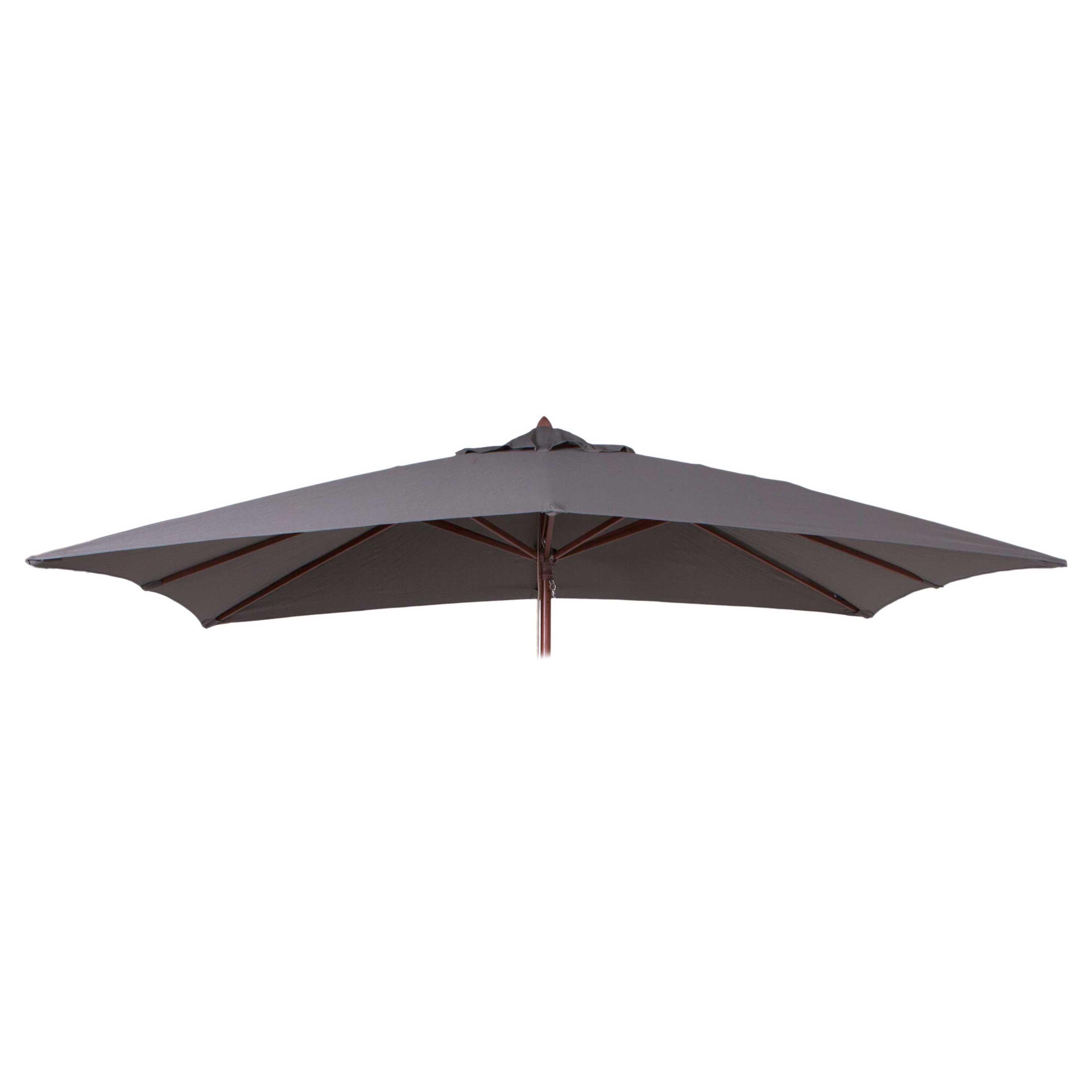 Parasoldoek Borek 150x200cm rechthoek grijs (olefin)