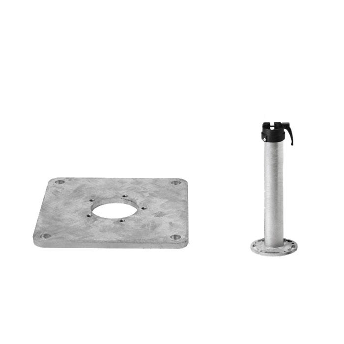 Glatz Sunwing- Fortero Montageplaat  + Staander  M4