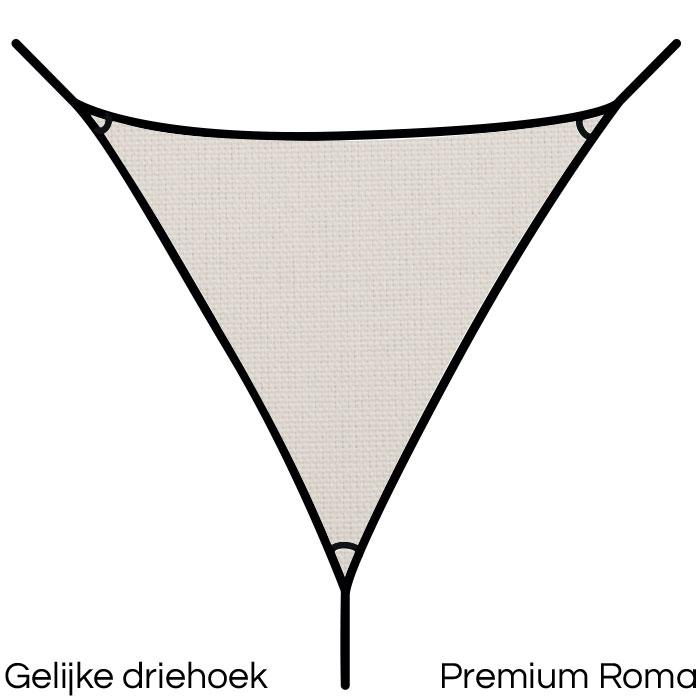 Schaduwdoek 4x4x4 driehoek Solidum - Umbrosa