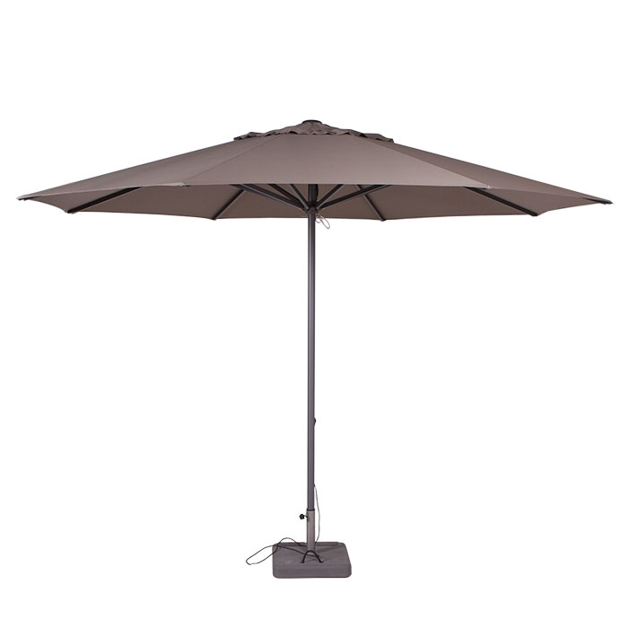Parasol Lima 400cm rond (Taupe)