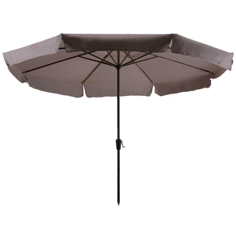 Parasol Rhodos 350cm rond (Taupe)
