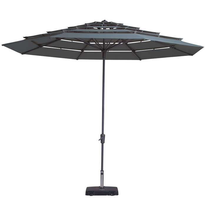 Parasol Syros open air 350cm (Grey)