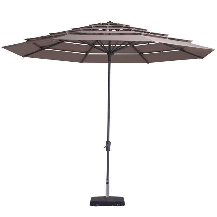 Parasol Syros open air 350cm (Taupe)