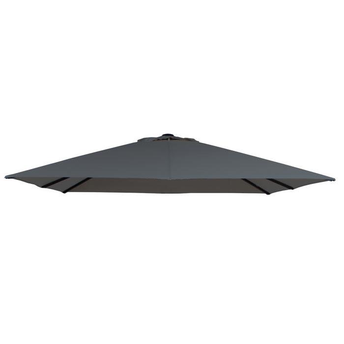 Parasoldoek Lima 300x300cm vierkant grey