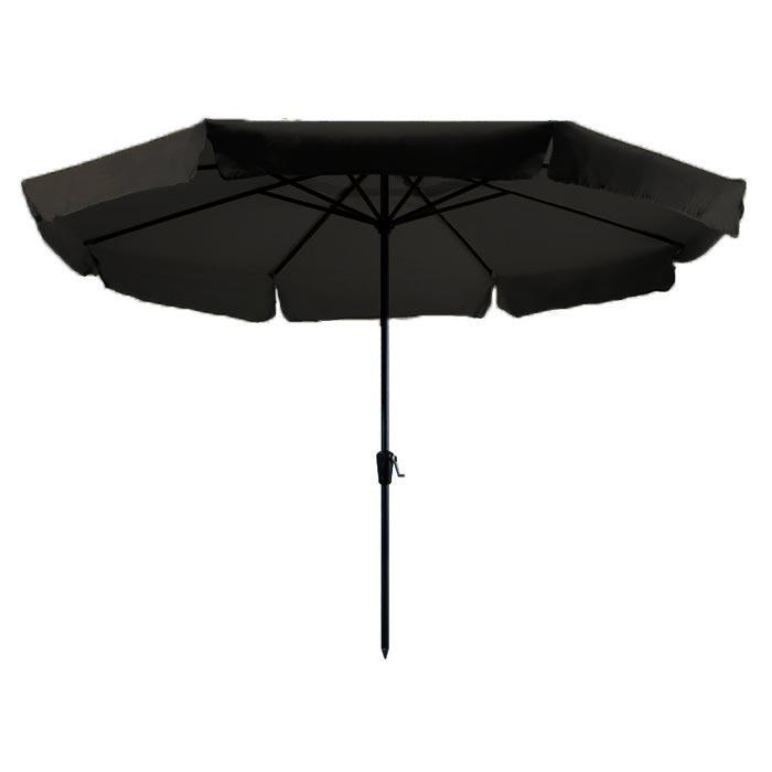 Parasol Rhodos 350cm rond (Zwart)
