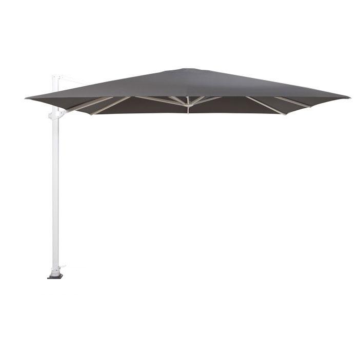 Zweefparasol Siesta 300x300cm soft grey (white frame) - 4-Seasons