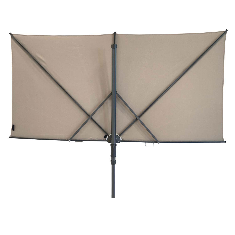 Vrijhangende zweefparasol Sunwave Square 250x125 (Ecru)