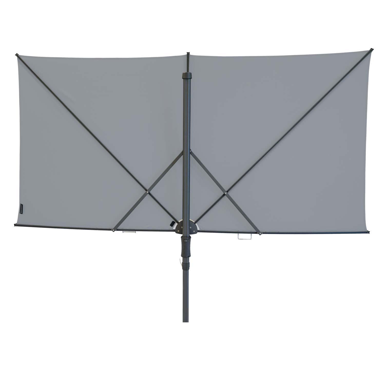 Vrijhangende zweefparasol Sunwave Square 250x125 (Light grey)