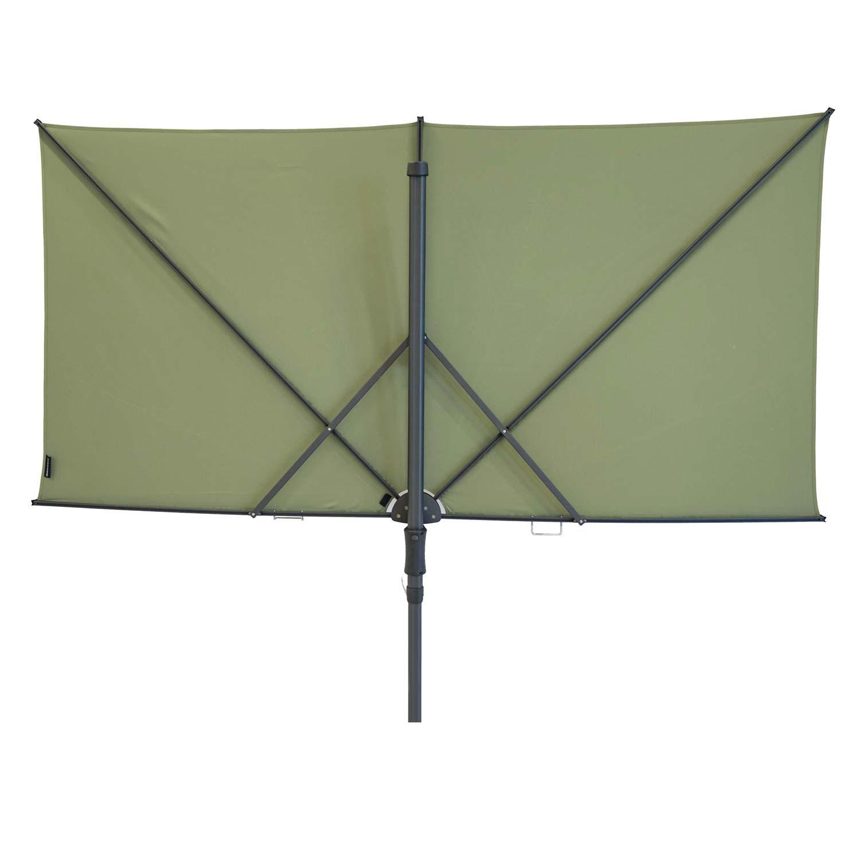 Vrijhangende zweefparasol Sunwave Square 250x125 (Sage green)