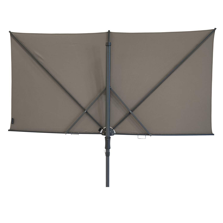 Vrijhangende zweefparasol Sunwave Square 250x125 (Taupe)