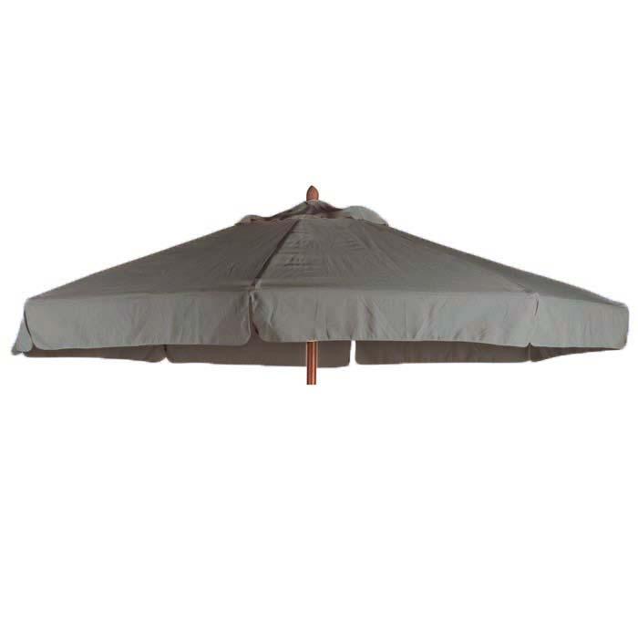 Parasoldoek Borek 200x300 rechthoek grijs met volant (olefin)