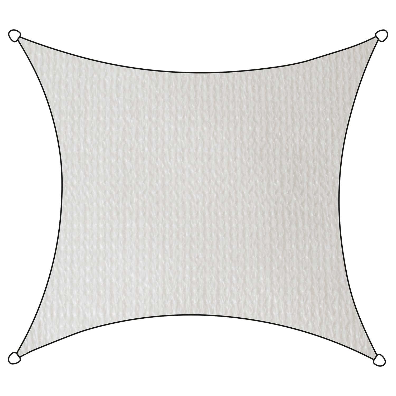 Schaduwdoek Iseo HDPE vierkant 5m (wit)