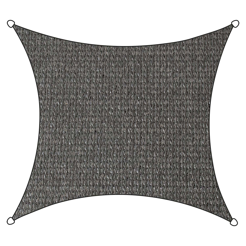 Schaduwdoek Iseo HDPE vierkant 3,6m (antraciet)