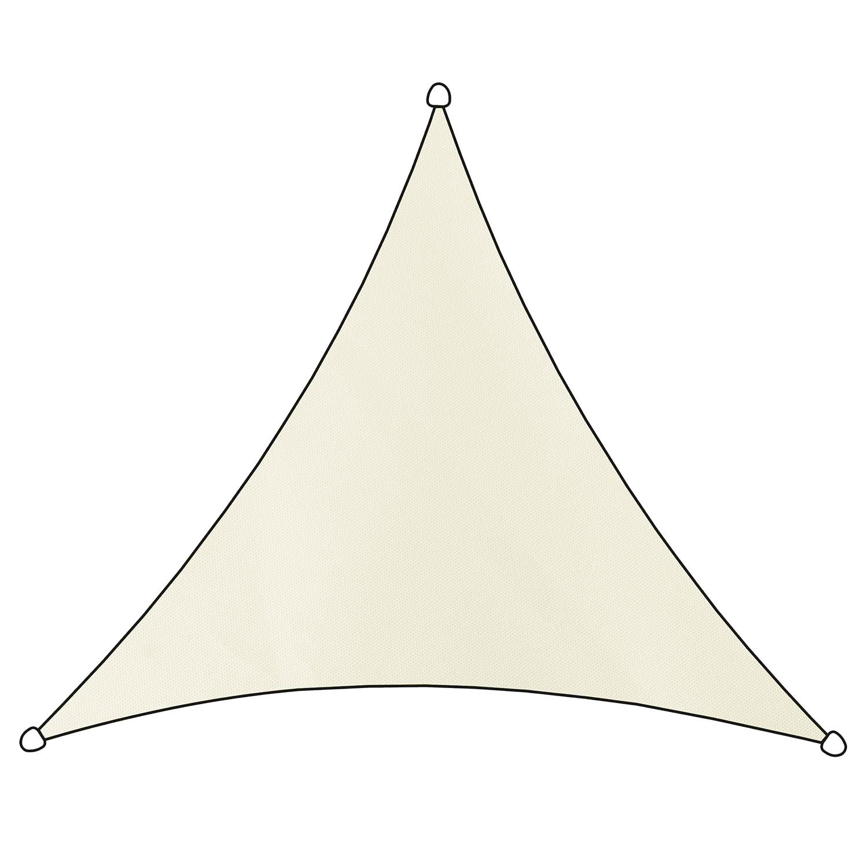 Schaduwdoek Como polyester driehoek 3,6m (wit)