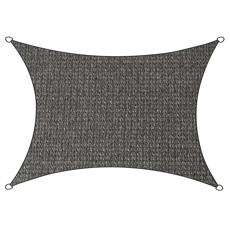 Schaduwdoek Iseo HDPE rechthoek 3x4m (antraciet)