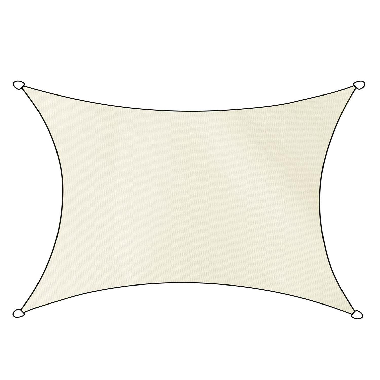 Schaduwdoek Como polyester rechthoek 3x4m (off white)