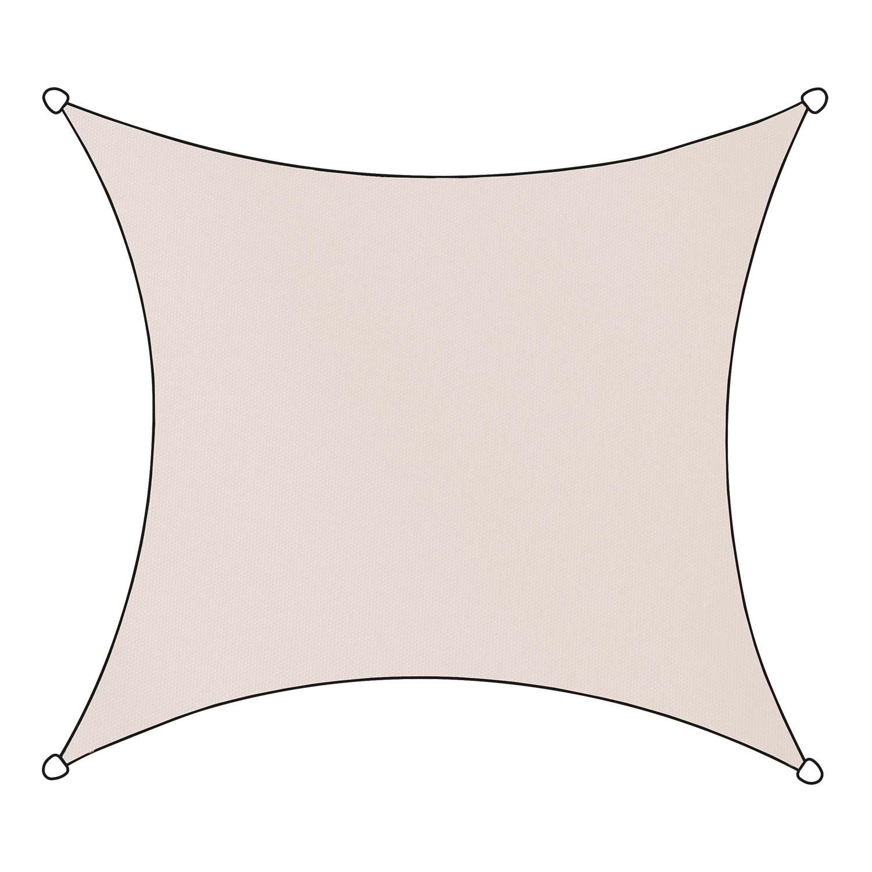 Schaduwdoek Livigno polyester vierkant 3,6m (naturel)