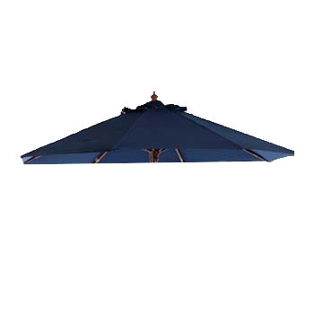 Parasoldoek Borek 250cm rond blauw (olefin)