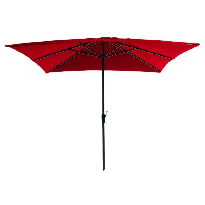 Parasol Rhodos 280x280cm (Rood)