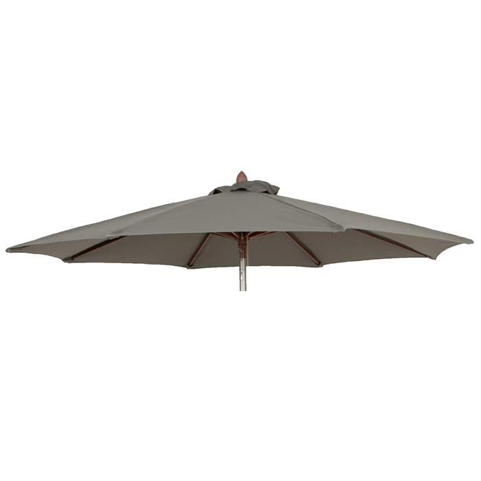 Parasoldoek Borek 180cm rond grijs (olefin)