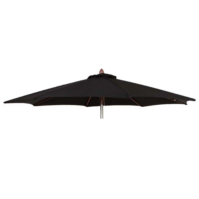 Parasoldoek Borek 150x200cm rechthoek zwart (olefin)