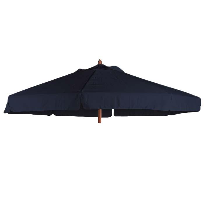 Parasoldoek Borek 200x300 zwart met volant (olefin)