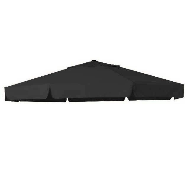 Zweefparasoldoek Hartman Reflexion en Scope zweefparasol 320x320cm vierkant grijs (polyester)