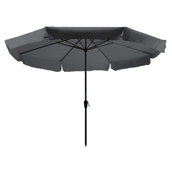 Parasol Rhodos 350cm rond (Grijs)