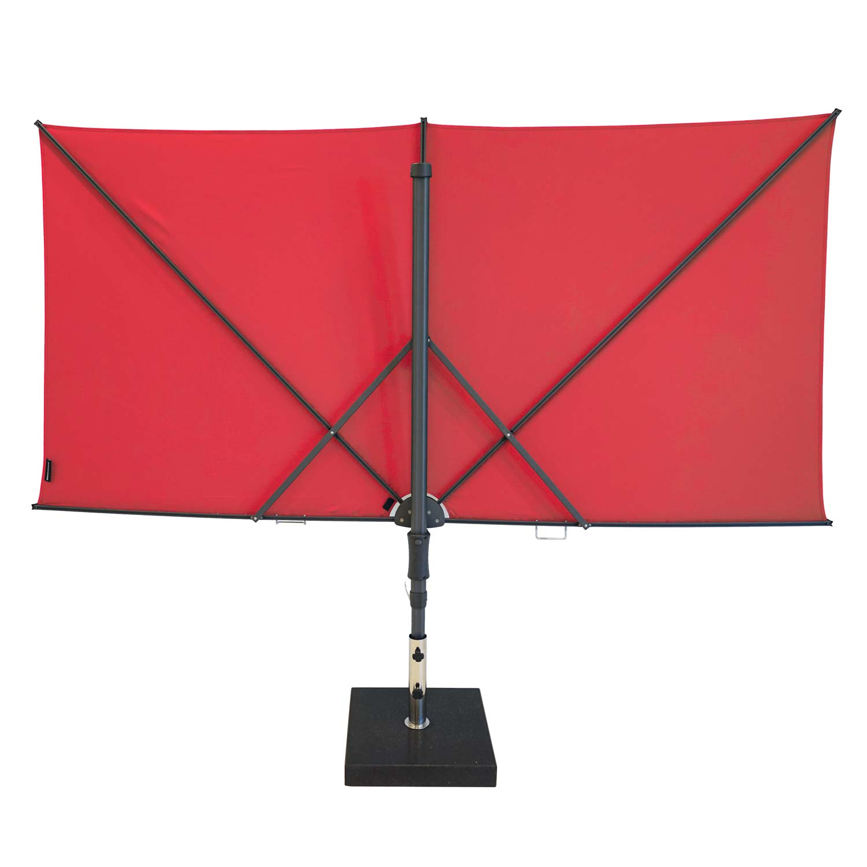 Vrijhangende zweefparasol Sunwave Square 250x125 (Brick red)