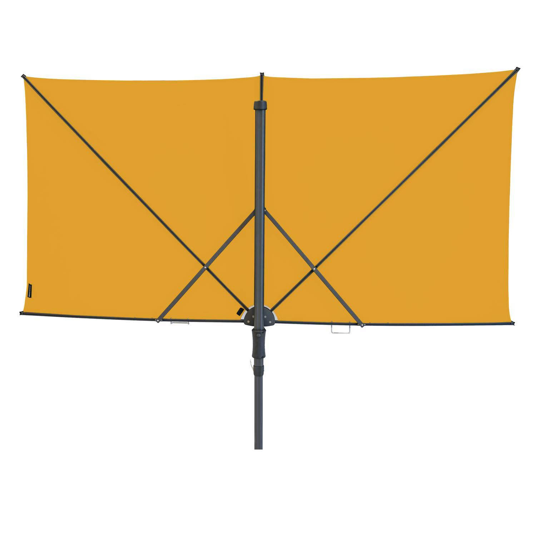 Vrijhangende zweefparasol Sunwave Square 250x125 (Golden Glow)
