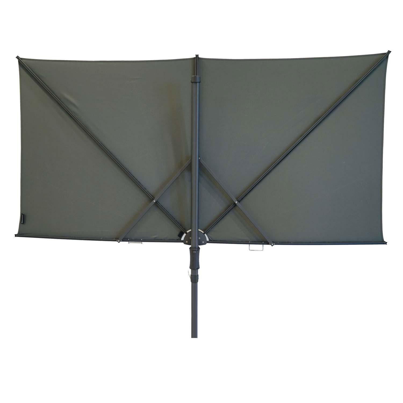 Vrijhangende zweefparasol Sunwave Square 250x125 (Grey)