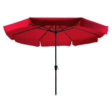 Parasol Rhodos 350cm rond (rood)