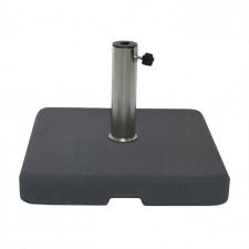 Parasolvoet beton 60kg vierkant (antraciet)