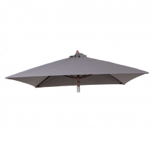 Parasoldoek Borek 200x200cm grijs (olefin)