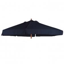 Parasoldoek Borek Ø300cm zwart met volant (olefin)