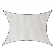 Schaduwdoek Iseo HDPE rechthoek 3x4m (wit)